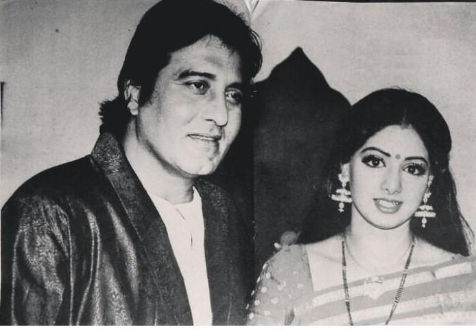 #VinodKhanna and #Sridevi  on the sets of Pathar ke Insaan.  @SrideviBKapoor