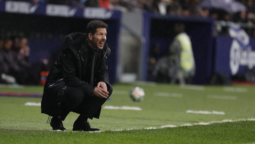 Simeone, en el duelo del Atlético de Madrid ante el Barça.