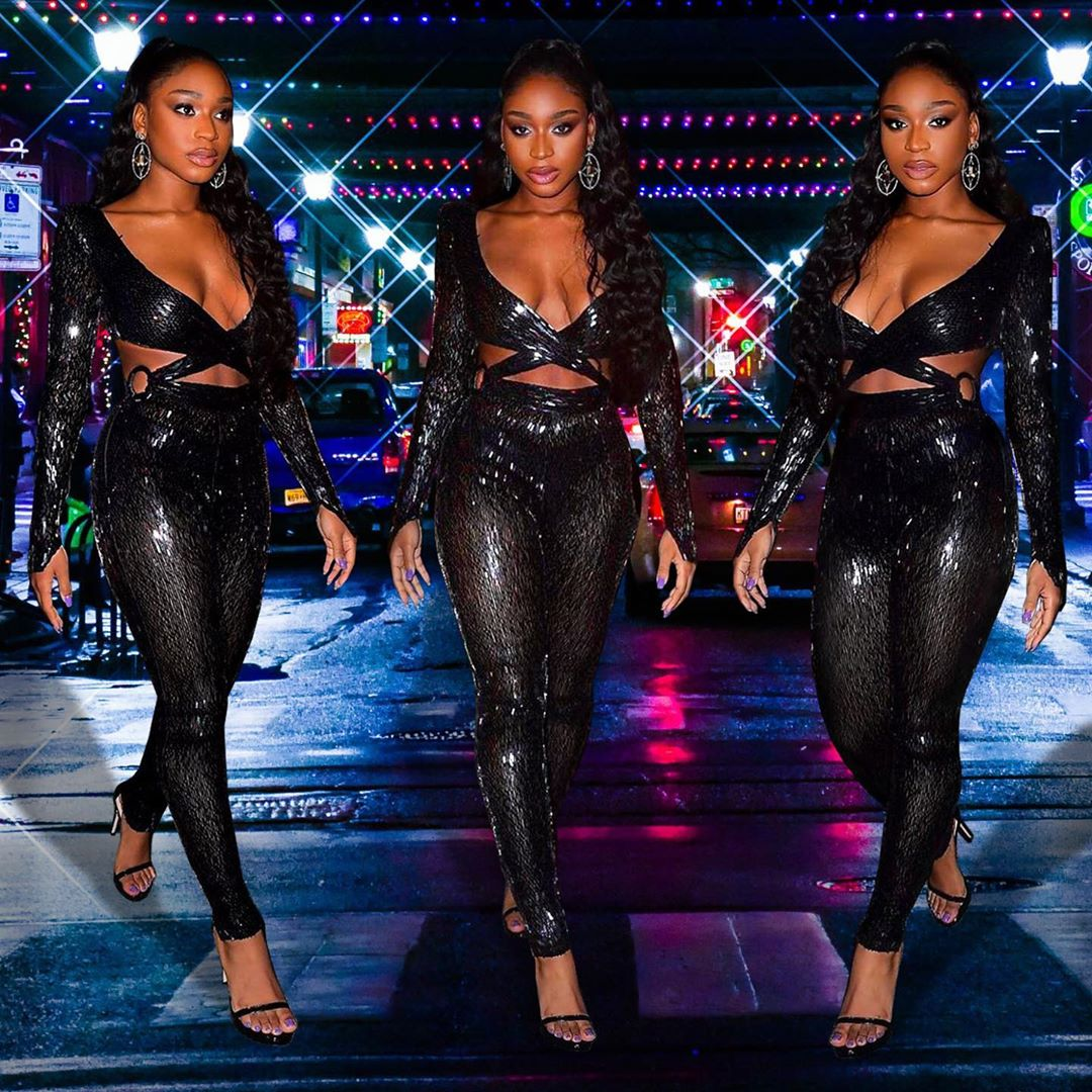 The stunning @Normani  attends the #SavagexFentyShow after party in a #JULIENMACDONALD high gloss liquid lacquered sequin jumpsuit featuring daring cutouts. Styled by kollin carter, shoes by @StuartWeitzman & jewelry by Jared Lehr Jewelry<br>http://pic.twitter.com/Y6t9ngkgri