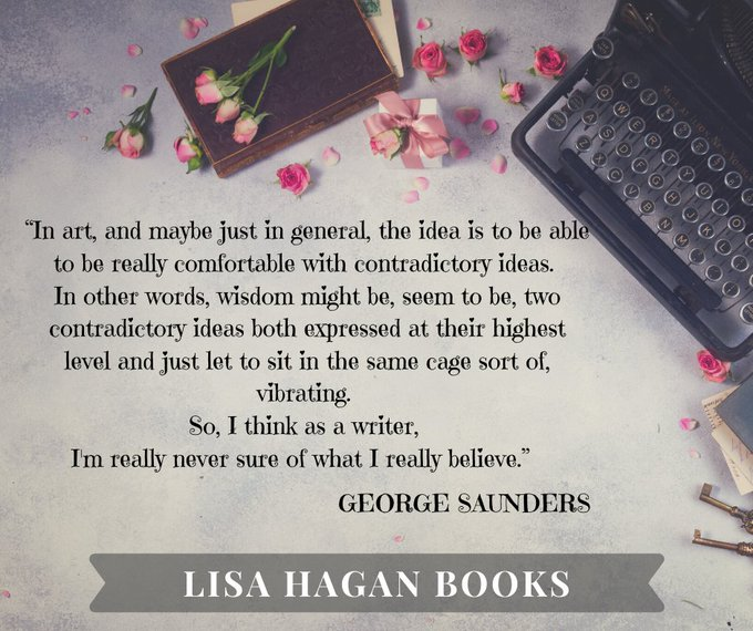 Good morning!  Oh, and Happy Birthday, George Saunders!