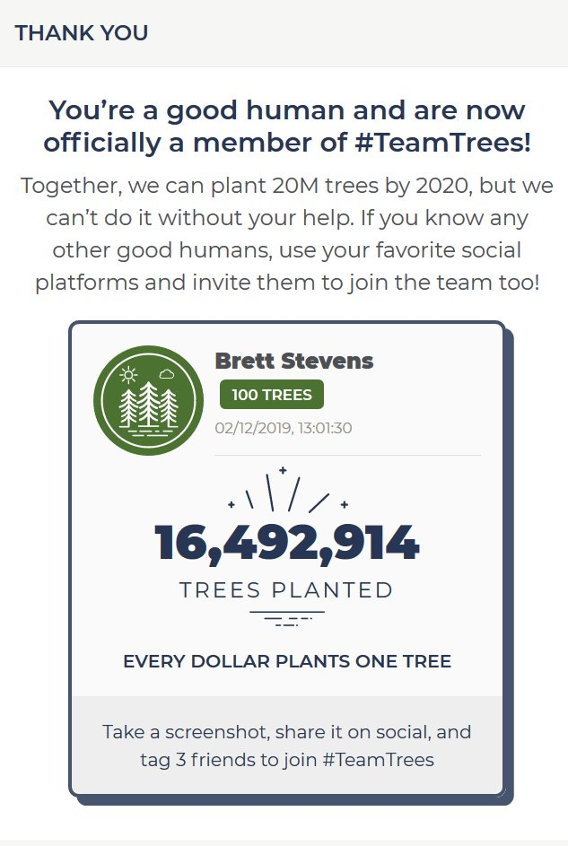 Friends can help sure, but corps can do more. How about you @MercedesAMGF1 @ValtteriBottas @LewisHamilton  #TeamTrees - Join in and help get us to 20M before 2020! https://t.co/fZq7kxcSaR