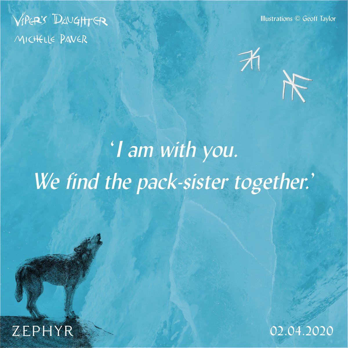Today is FOUR months until the publication of #VipersDaughter by @MichellePaver so here's a sneak peek! 📅🐺When Renn mysteriously disappears, Torak and Wolf brave the Far North to find her...Find out more about the exciting return of #WolfBrother: http://bit.ly/VipersDaughter