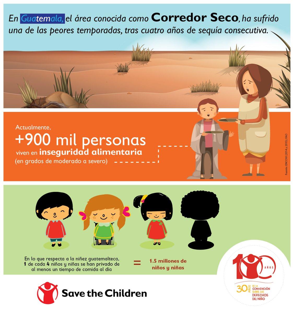 """Uživatel Save the Children GT na Twitteru: """"La inseguridad alimentaria en  Guatemala ha provocado que 1 de cada 4 niños y niñas solo comen 1 tiempo de  comida al día. El Derecho"""