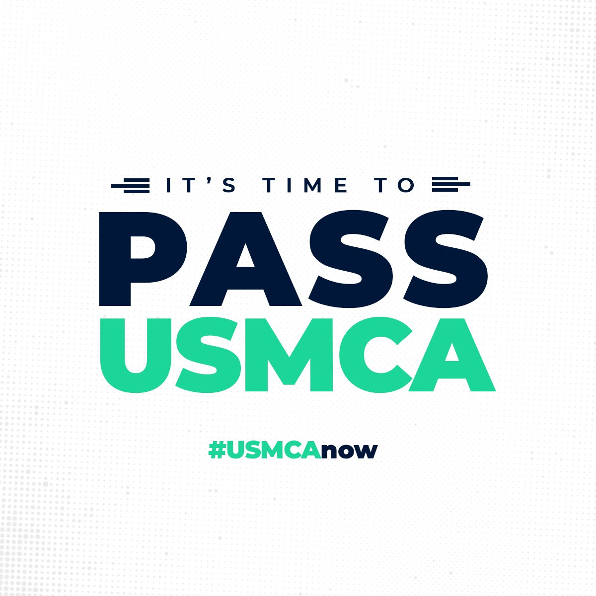 It's been over 1️⃣ year since @realDonaldTrump signed the #USMCA. Iowans from every corner of our state want to see this trade deal get done. @SpeakerPelosi needs to move on it and pass the #USMCAnow.