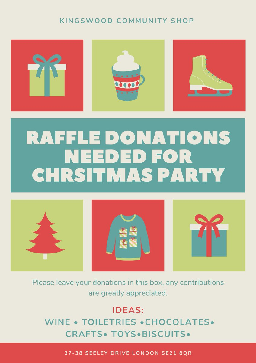 Raffle donations needed for Christmas party