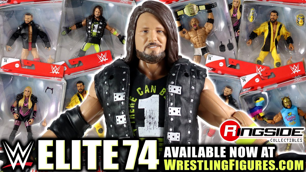 Make your WWE Figure Collection PHENOMENAL with Mattel Elite Series 74 @RingsideC! Includes @AJStylesOrg, @Goldberg, @NatbyNature, @AndradeCienWWE, @LuchadorLD & @FinnBalor! Shop Now at: http://bit.ly/2rziYEZ