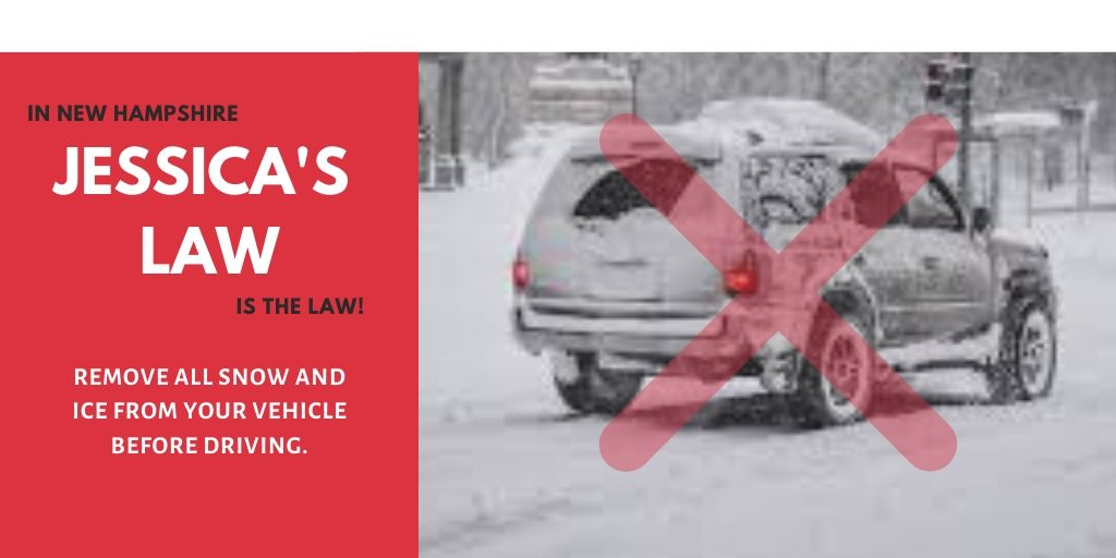 Did you know failing to clear snow and ice from your vehicle roof constitutes Negligent Driving and can be punished by a fine of up to $500 for first offense. Please completely clean off your vehicle before driving. http://LebanonNH.gov/1236#ClearTheSnowBeforeYouGo #UpperValley
