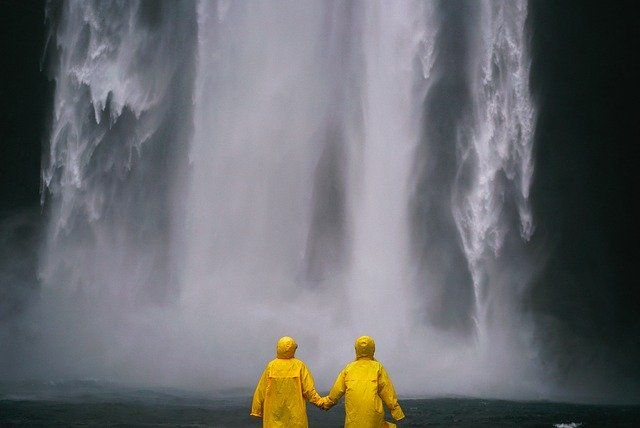 Couple In Raincoats At A Waterfallby Pexels  https://pixabay.com/p-1836407