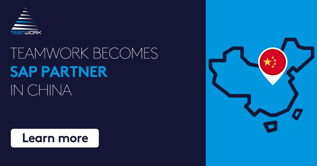 Image for the Tweet beginning: TeamWork is now SAP Partner