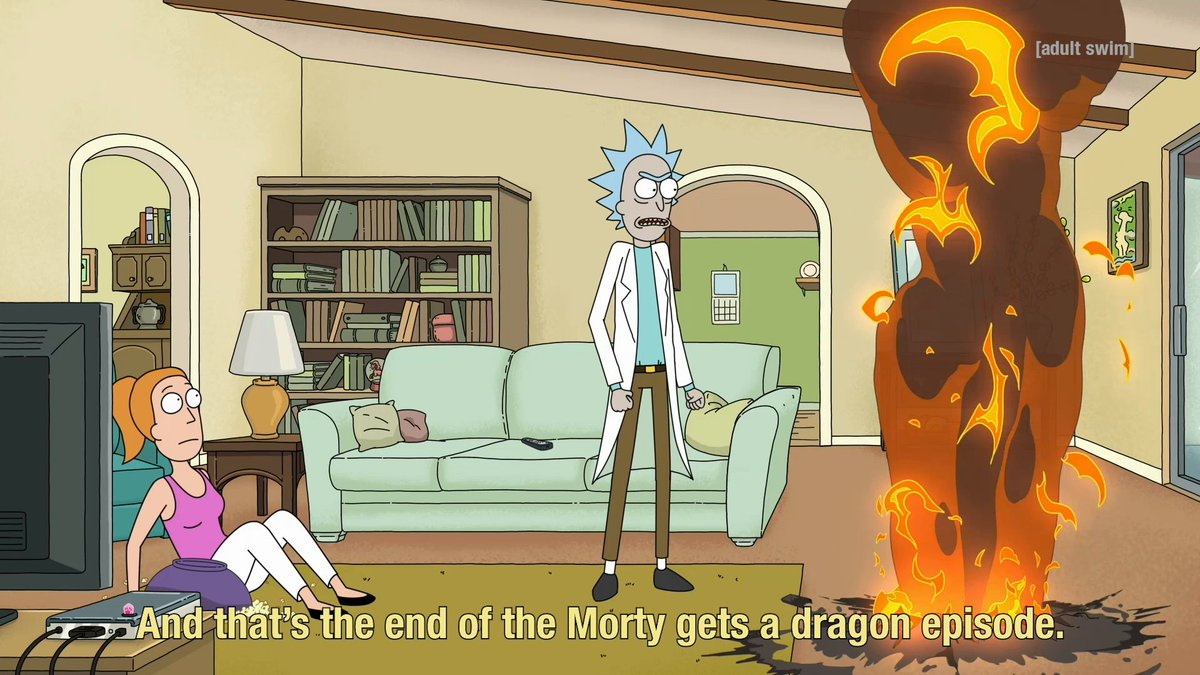 He always slays it. New @RickandMorty this Sunday at 11:30pm ET on #adultswim