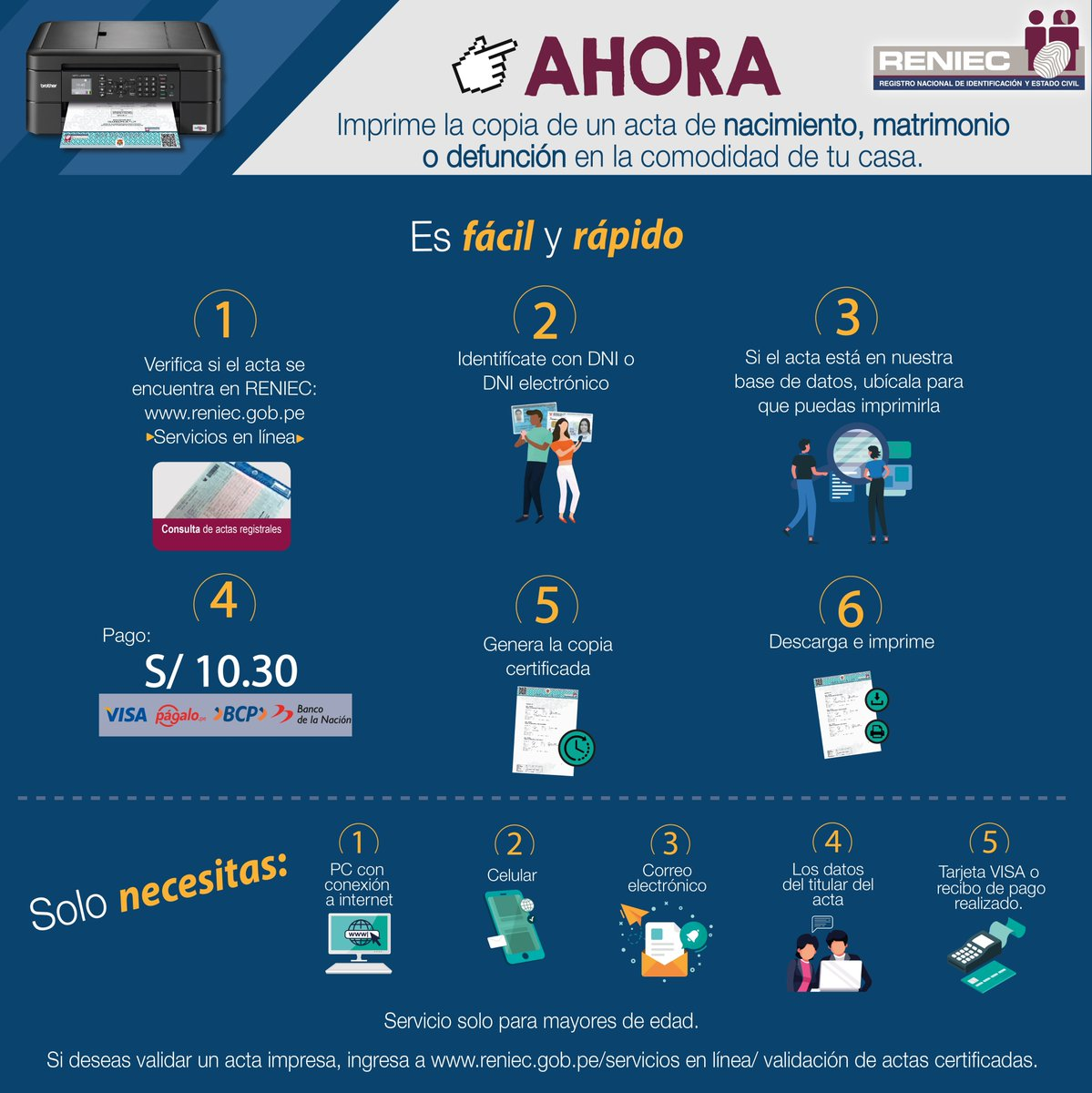 Reniec Perú On Twitter A Partir De Hoy Cualquier Peruano