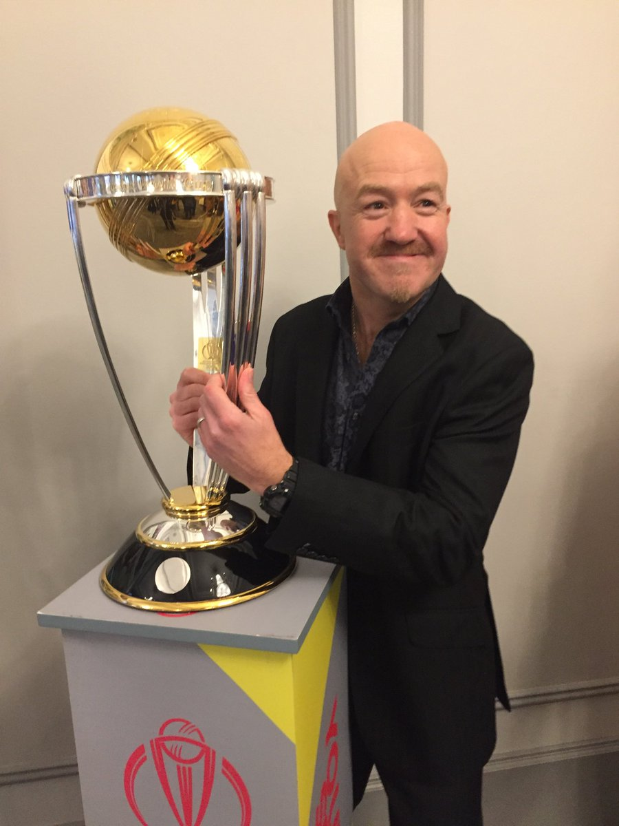 You super-over super-beauty. Great to get my hands on the #ICCWorldCup2019 #Thankyou <br>http://pic.twitter.com/L79ZpjpjH6