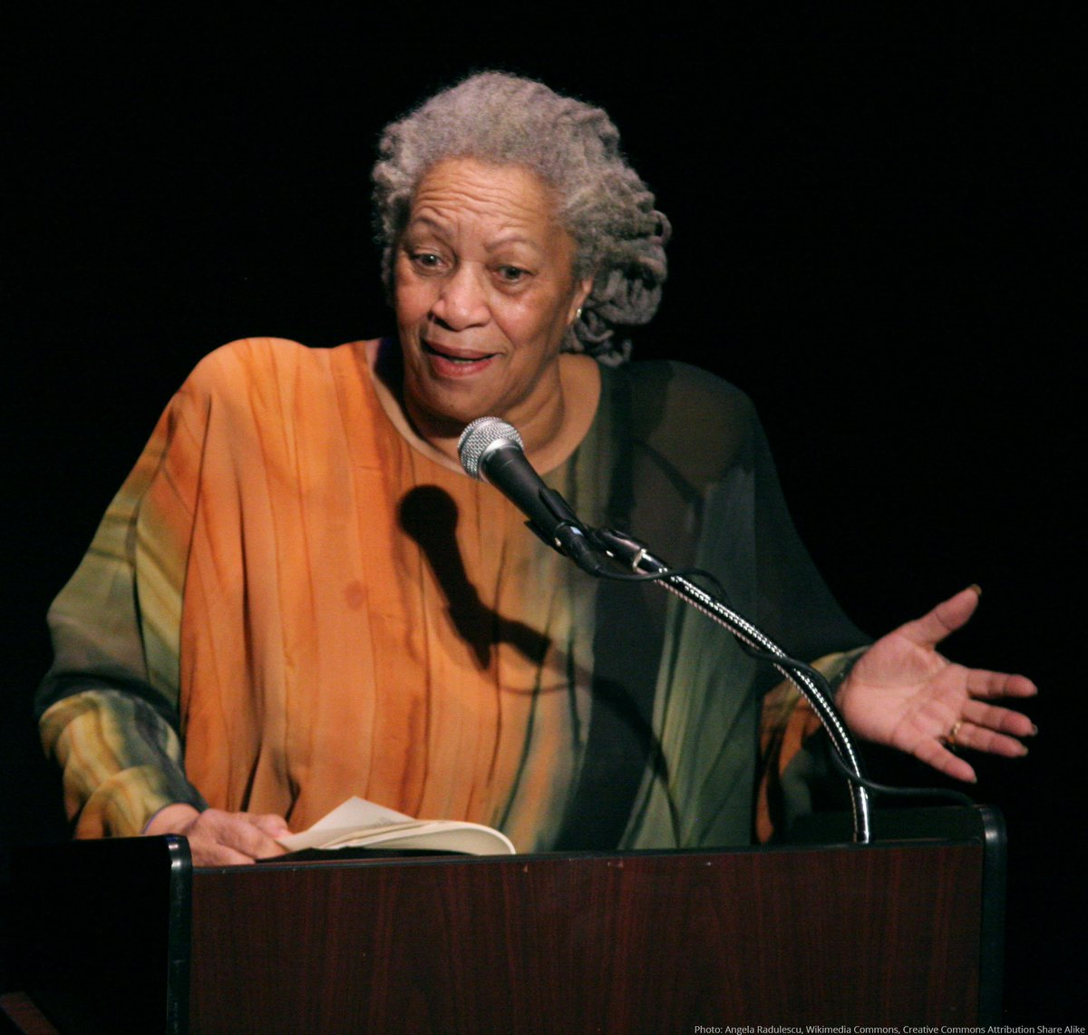 We mark International Day for the Abolition of Slavery by remembering Literature Laureate Toni Morrison who wrote about the horrors of slavery in several of her novels – including 'A Mercy' and 'Beloved' – and how its legacy, and irreparable harm, lives on. #AbolishSlavery