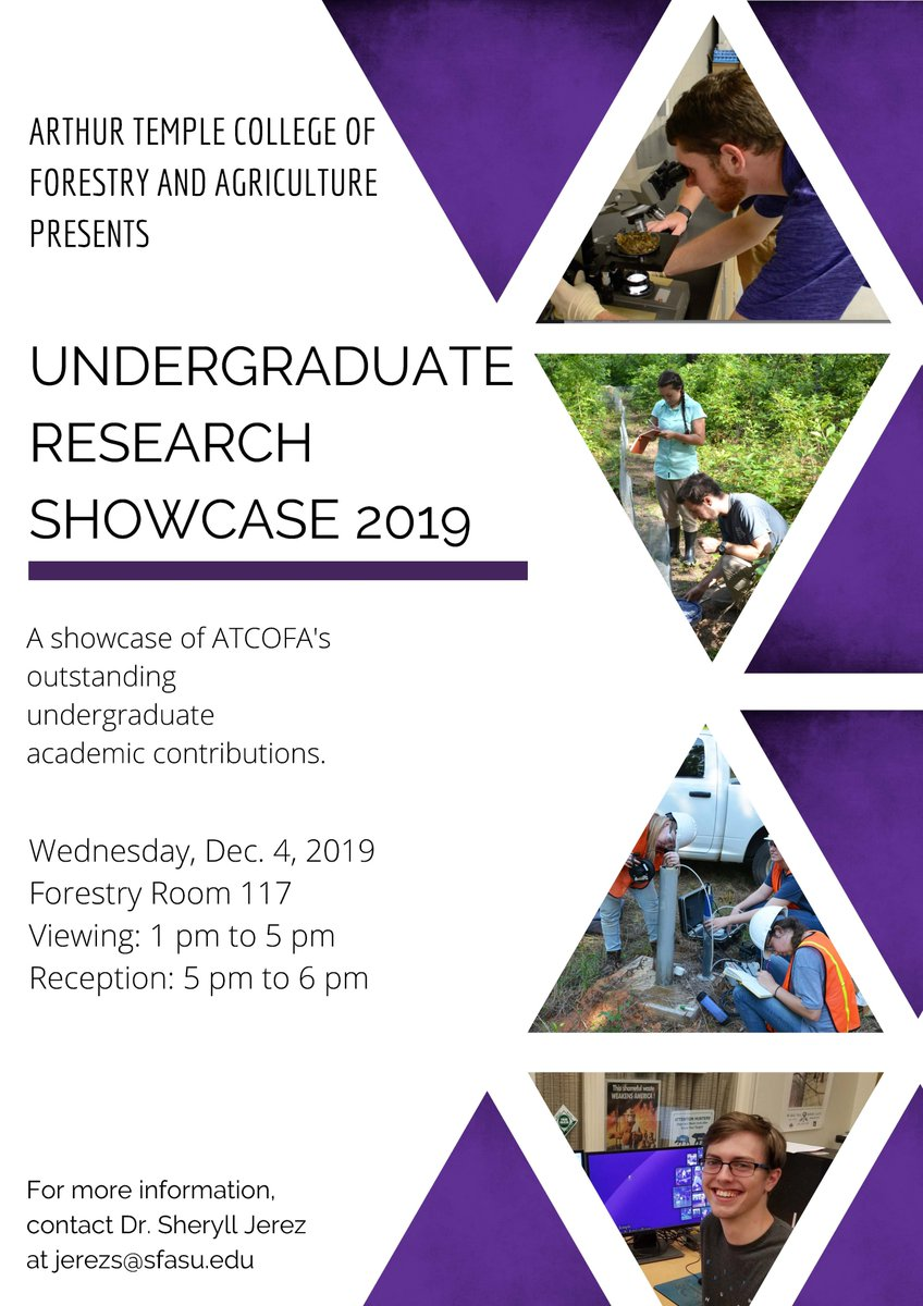 Check out all of the outstanding undergrad research taking place at #ATCOFA during this Wednesday's undergraduate research showcase! https://t.co/KLFh8UgSVJ