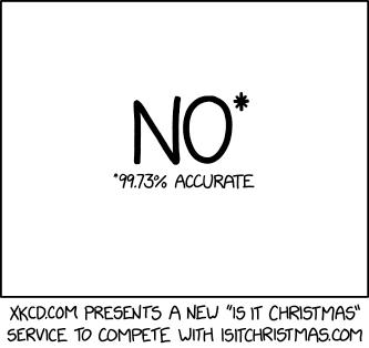 Is it Christmas? xkcd.com/2236/ m.xkcd.com/2236/