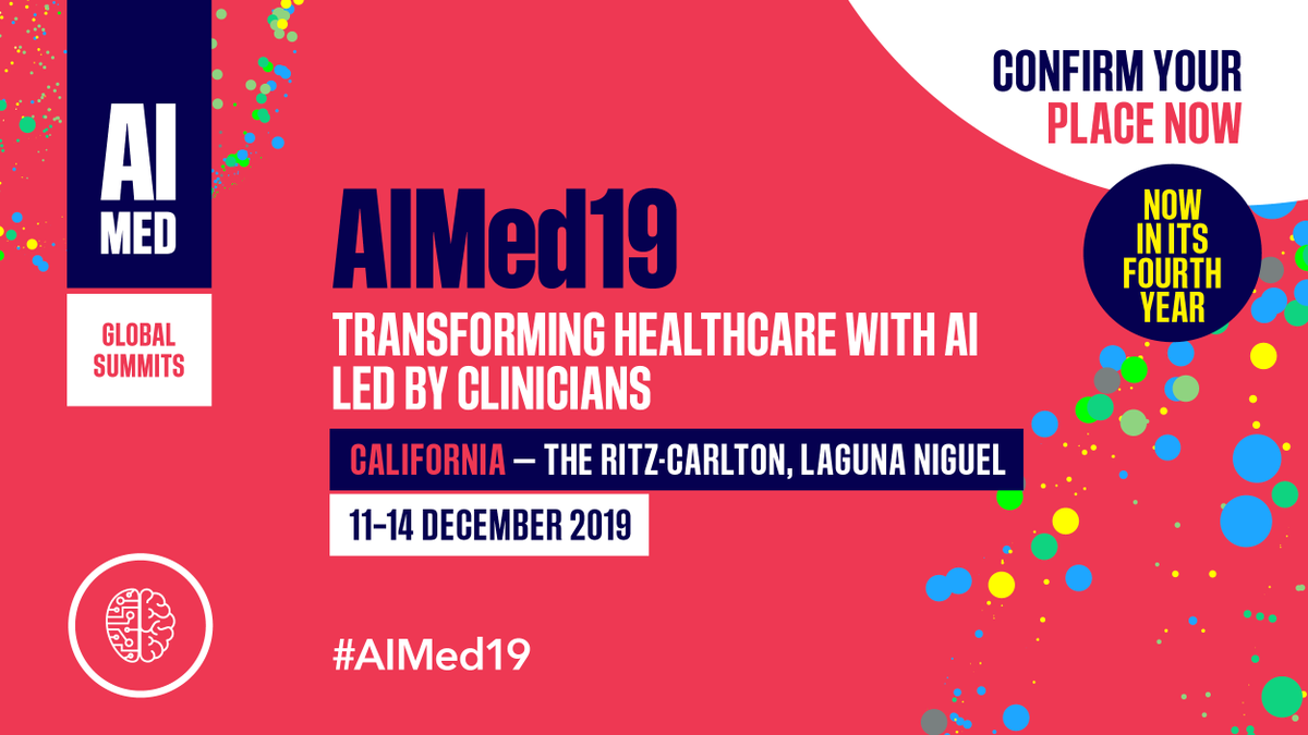 AIMed 19's featured speakers are some of the best and brightest minds in the industry! Register your place today to join them at the Ritz Carlton in Laguna Niguel, California >> http://ow.ly/xm3a50xpBgk#AIMED19 #ArtificialIntellegence #Health
