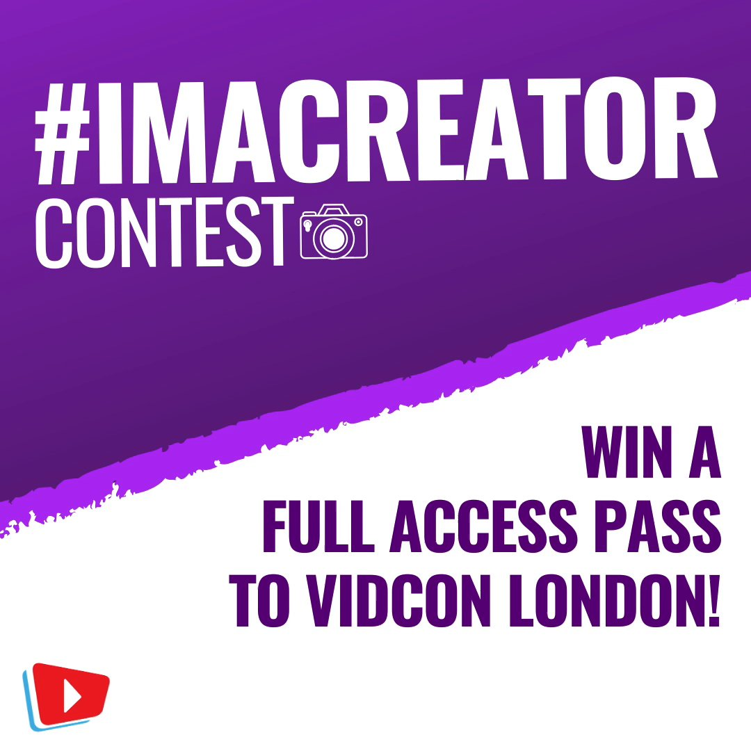 The #ImACreator contest is BACK! Submit your best 1-minute video by 16 Dec for your chance to win a Full Access Pass to #VidConLDN!#contest rules: http://vidconlondon.com/i-am-a-creator Good luck!