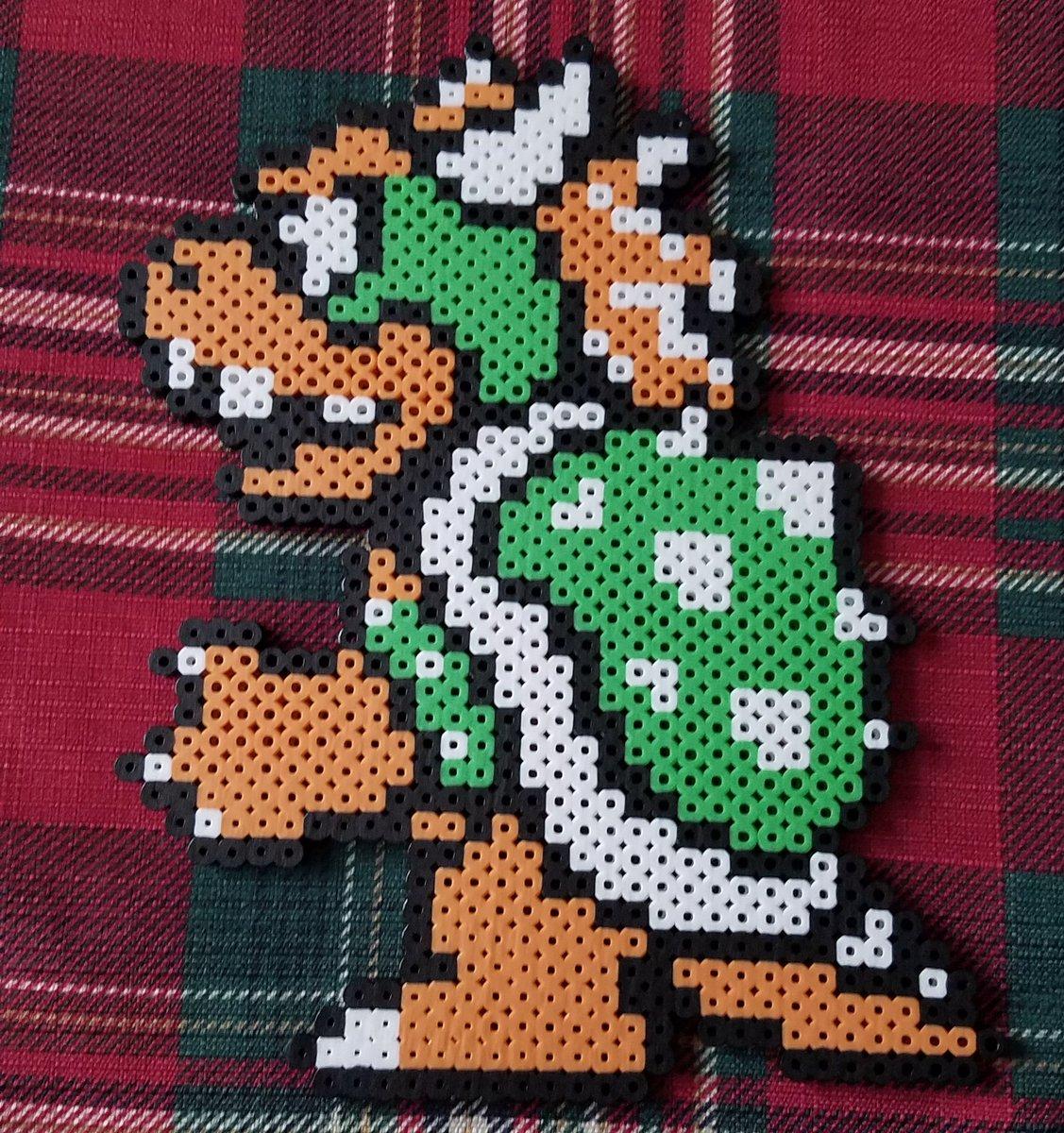 super mario bros 3 bowser pixel art