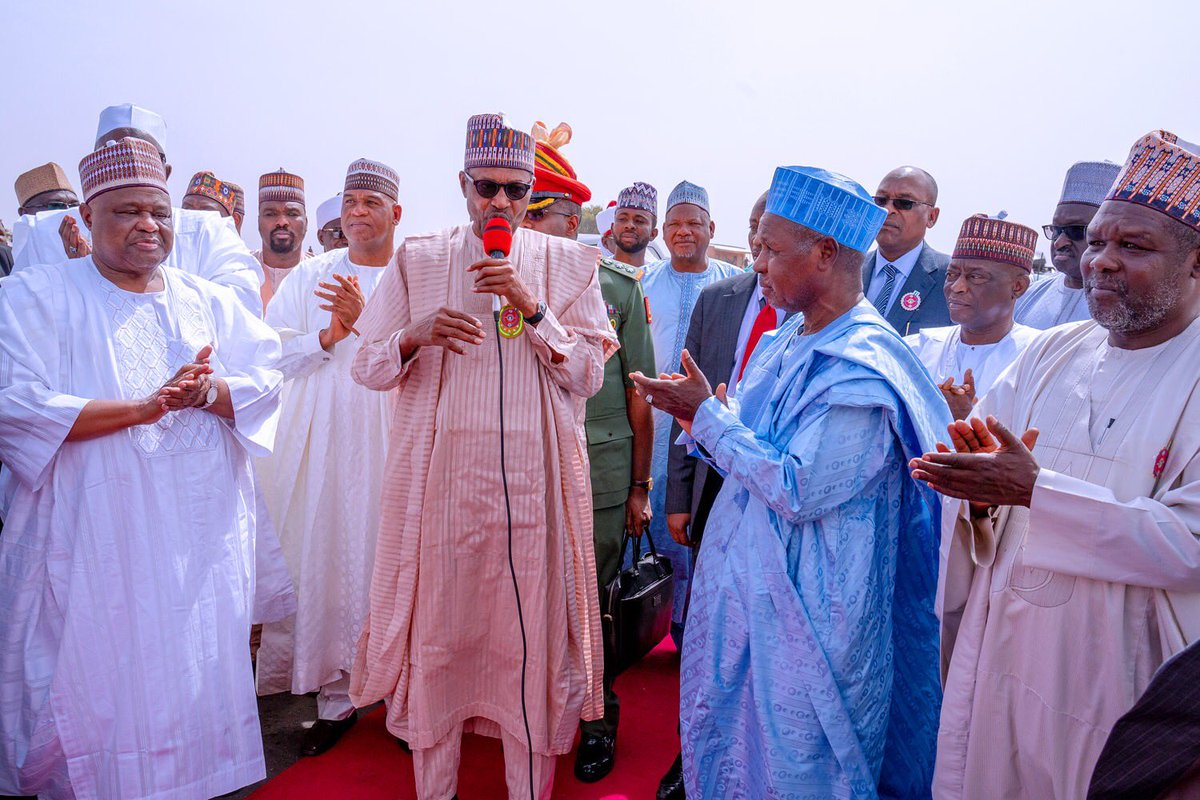 President Buhari today in Daura, Katsina, said efforts of the state government in constructing & improving road networks across the state deserved commendation, especially the focus on linking economically viable areas in the hinterlands to markets, public institutions & schools.