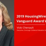 Congratulations to Vicki Chenault, an executive in the CoreLogic Collateral Valuation Solutions division, on winning the 2019 @HousingWire Vanguard Award! https://t.co/h0wSSTbxnl