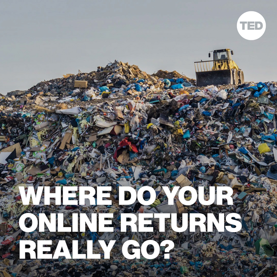 """#BlackFriday shopping? Here's why you might want to think twice about those """"free"""" online returns.   Watch Aparna Mehta's full TED Talk here:"""