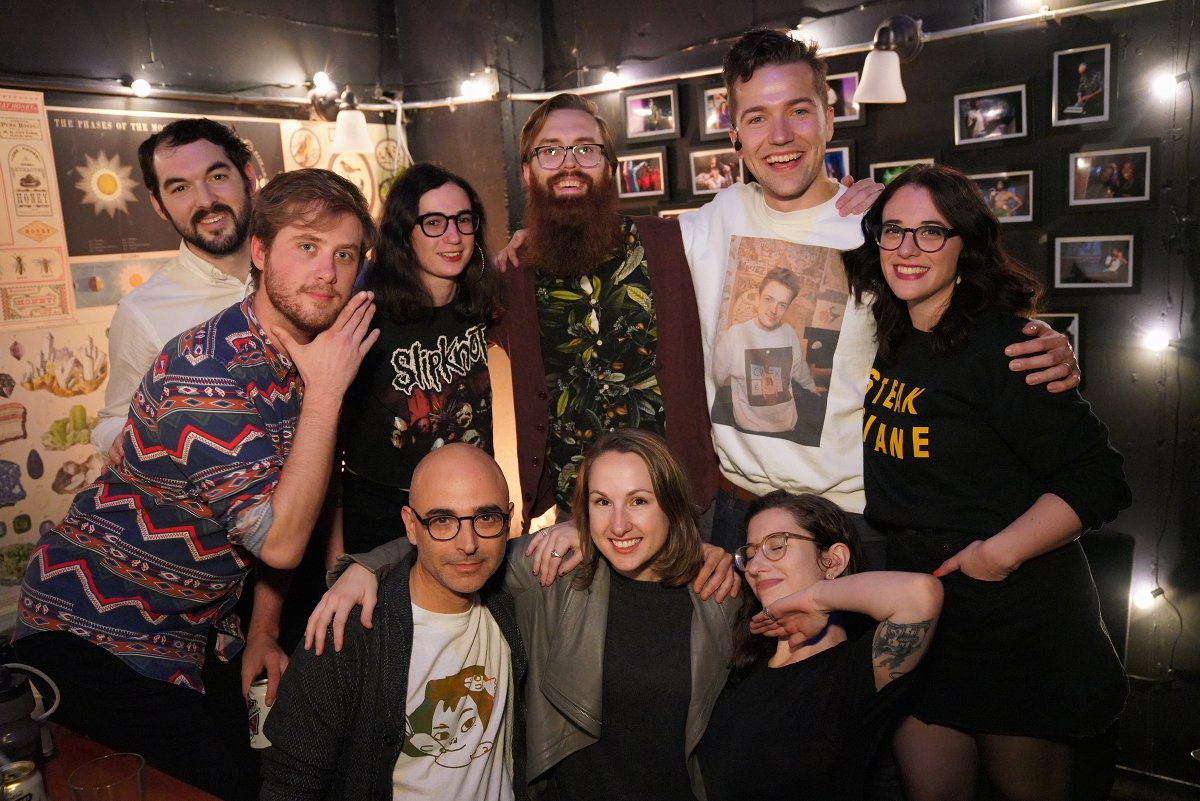 Internet Explorers: TWITTER was a f*eakin SOLD OUT BLAST! twas a night of brands, bots, furries & more. THANK YOU ALL who packed into @caveatnyc and joined us on @Twitch! twitter expertz: @broderick @swodinsky @nathanallebach @evepeyser bffz: @RollieWilliams @SamanthaaaReece