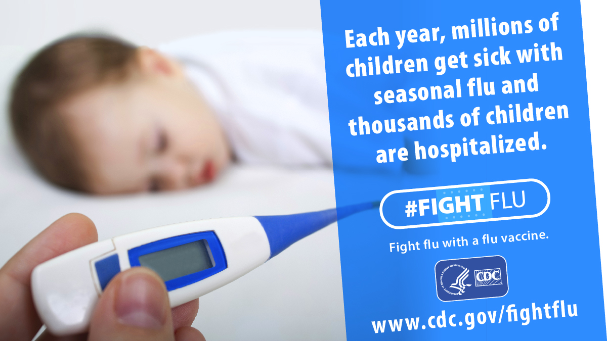 Children younger than 5, and especially those younger than 2 are at high risk for flu complications.  If your child is 6 months or older, it's not too late for them to get a #flu vaccine. https://t.co/0g2mvf5Cxi  #NIVW