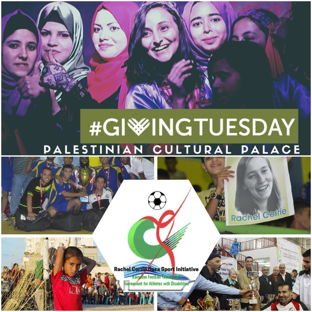 Tomorrow is #GivingTuesday! This year, we are raising $15,000 for our Gaza projects including the Palestinian Cultural Palace and the Rachel Corrie Gaza Sport Initiative. Will you join us as a partner in these incredibly important projects? …elcorriefoundation.networkforgood.com/projects/87704…