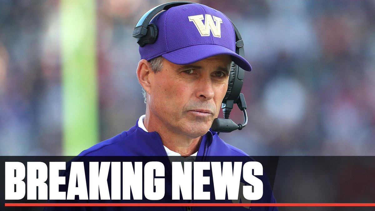 Breaking: Washington head coach Chris Petersen announces that he will step down following the Huskies' bowl game and assume an advisory role with the school.  Defensive coordinator Jimmy Lake will be the team's new head coach. <br>http://pic.twitter.com/nDqfMgsklp