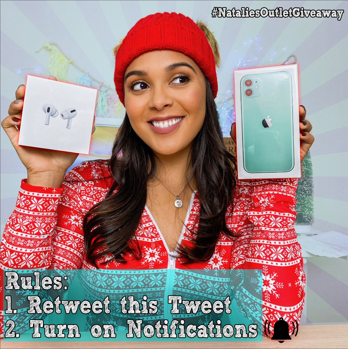✨GIVEAWAY✨Just RT & turn on notifications and you're in!❄️ happy holidays to my twitter fam!🎄 #NataliesOutletGiveaway