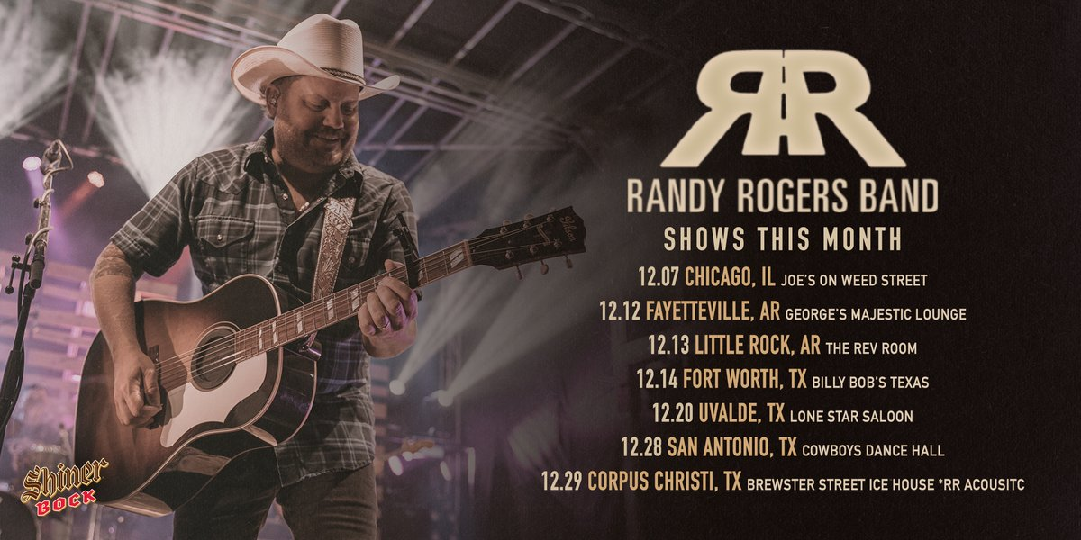 December is gonna be a fun one! See y'all soon. Grab your tickets here: bit.ly/RRBDecTix