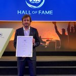 Great event in Paris for the Hall of fame at the FIA. It's a big pleasure to be the fist driver to be inducted in both the @F1 and @FIAWEC Halls of Fame. Thank You. 💙 #motorsport #halloffame #fia #f1 #wec #sport