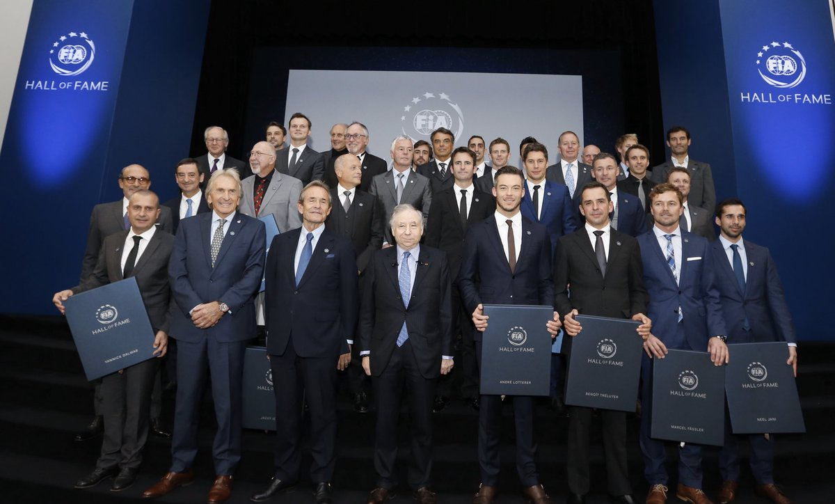 Very honoured to be inducted into the FIA Hall of Fame with these sportscar legends in Paris tonight.
