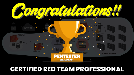 Pentester Academy On Twitter Congratulations To Filip Dragovic For Clearing Our Certified Red Team Professional Exam Adlab Crtp Cc Nikhil Mitt Https T Co 0hzjitvwu2 Https T Co 7zdiyd27yu