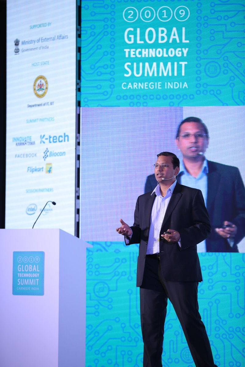 """""""Data isn't just influencing the auto industry, it's also shaping the auto industry"""" - Aravind D., Associate VP, #HARMAN shared our take on 'The Future of Data'- the theme for recent Carnegie India's Global Technology Summit. Catch the full talk here: https://t.co/Q3RAwDTh2O https://t.co/6s3H7VqK8G"""