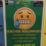Image for the Tweet beginning: Teacher discomfort today at lunch
