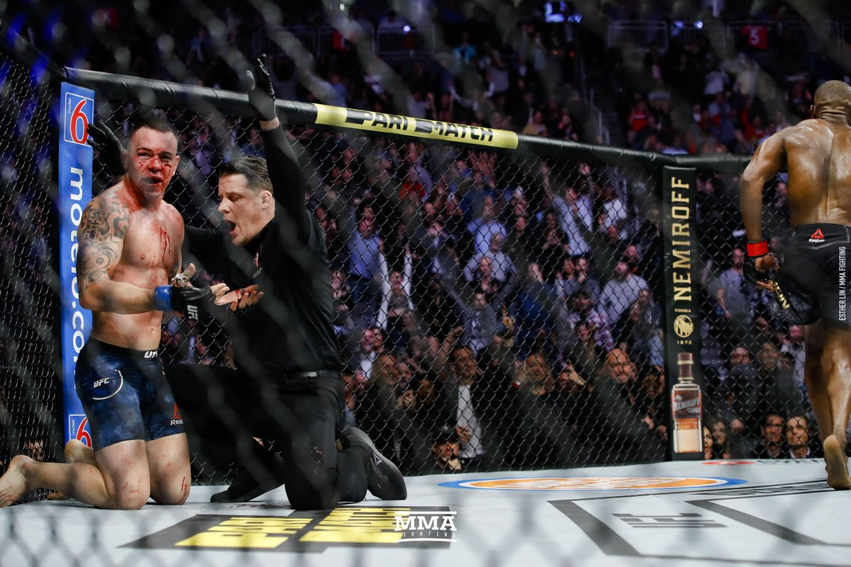 Girl with big tits behing coby covington in ufc Mmafighting Com On Twitter Colby Covington Suffers Broken Jaw At Ufc 245 Rips Referee Marc Goddard For Fake Stoppage Damonmartin Https T Co 7si2l5j4bj Https T Co Wduyvjwnn8