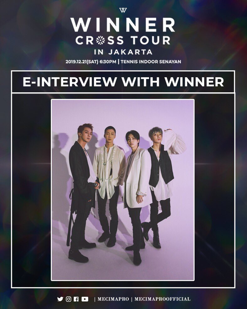 We had the chance to do an E-Interview with @yg_winnercity! INNER CIRCLE, find out what WINNER said about #WINNERCROSSTOURinJKT and INNER CIRCLE Indonesia! See you in less than a week! 💙 - 🎫 : http://bit.ly/winner2019mcppackage… (MCP Package) 🎟 @tiket : http://bit.ly/winnercrosstourjkt…