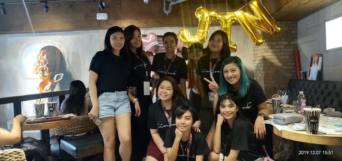 With team @JinKookPH 💜 glad i met these girls! To more future events ✨ #CafeEpiphany #HappyBirthdayJin #HappyJinDay