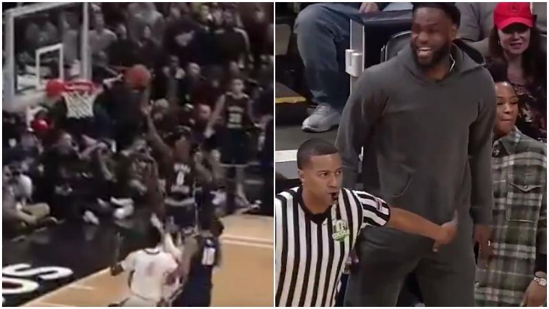 【影片】裁判攔不住,妻子拉不動!兒子打進反超上籃,詹姆斯開心壞了!