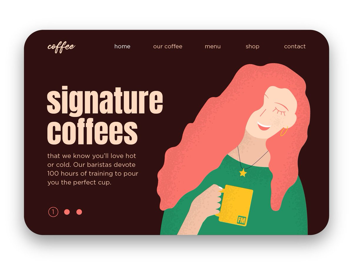 How many of you couldn't function without coffee?   #illustration #landingpage #webdesign #website #uiux #characterdesign #flatdesign #cartoonpic.twitter.com/f8V4aNPgAu