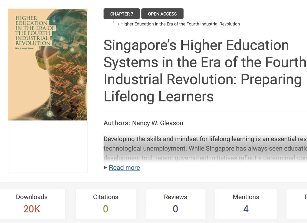Hooray - my book chapter has passed 20K downloads! check it out if you have not yet #Industry40 #2MA #4IR #HigherEducation bookmetrix.com/detail/chapter…