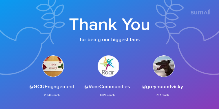 test Twitter Media - Our biggest fans this week: GCUEngagement, RoarCommunities, greyhoundvicky. Thank you! via https://t.co/Smxnf7IYIv https://t.co/ILnWiJnchZ