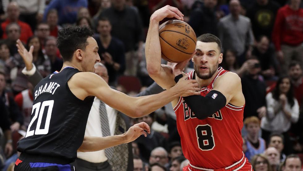 Zach LaVine consigue 31 puntos, 4 rebotes y 2 asistencias en la victoria de @chicagobulls sobre @LAClippers por 106-109. Montrezl Harrell finalizó con 30 puntos y 7 rebotes. #BullsNation