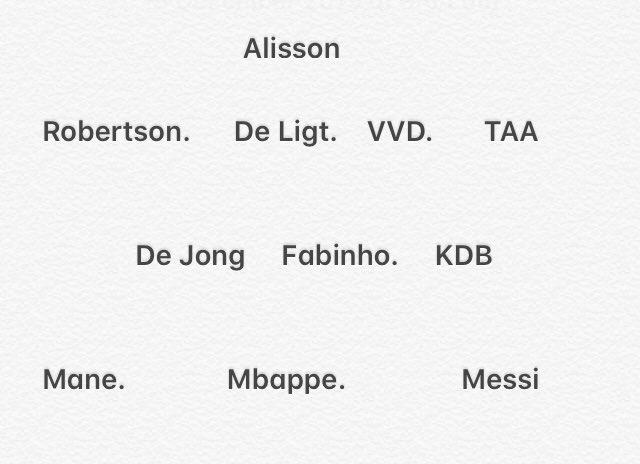 TOTY Predictions #toty #fifa #fifa20 #TOTY20 #alisson #vvd #deligt #taa #kdb #fabinho #dejong #mbappe #messi #mane