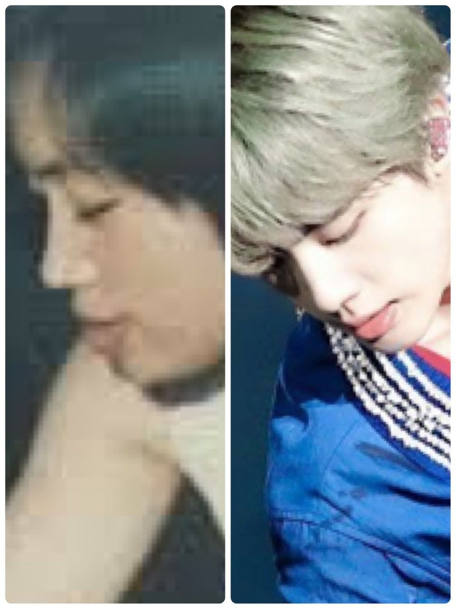 Their side profiles are exactly the same #진 #JINDAY
