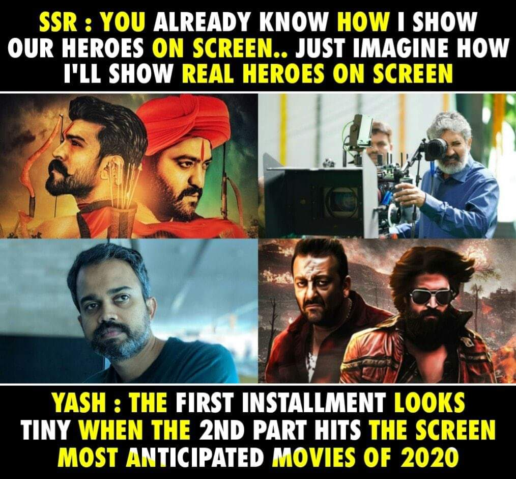 Most anticipated movies of 2020-2021 : https://youtu.be/PQ1zZArn1Dw  #SsRajamouli #Rrr #Yash #KGF2 pic.twitter.com/HCPwFw9mTx