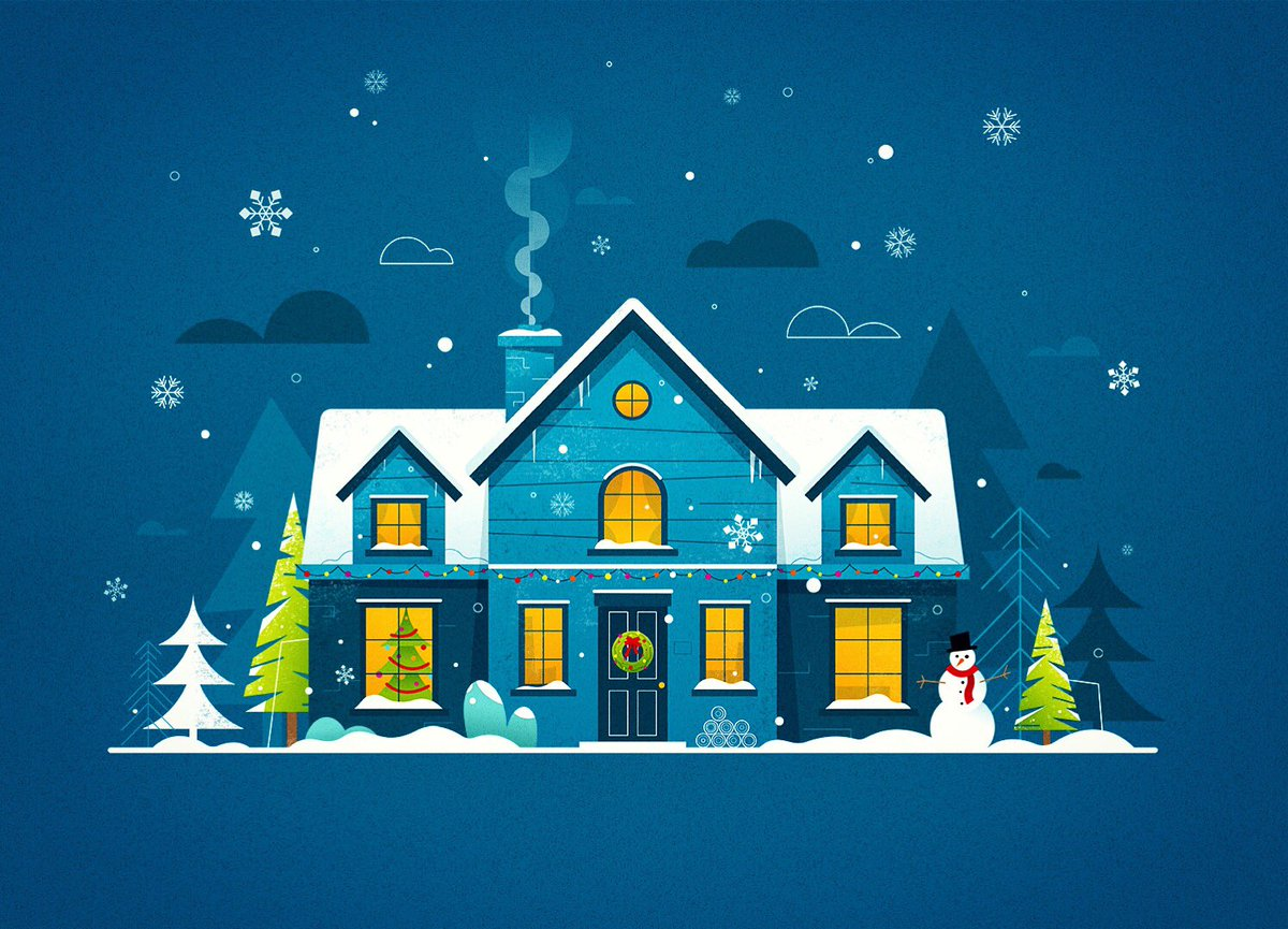 Thought I'd share a few of the designs/stills from a recent animation project for @GuardianLabs and @Tesco, on the run up to Christmas.   Here's a snowy house..  #Christmas #design #illustration  #animation #flatdesign #snow #winterscene #animationdesignpic.twitter.com/THMynziUqN
