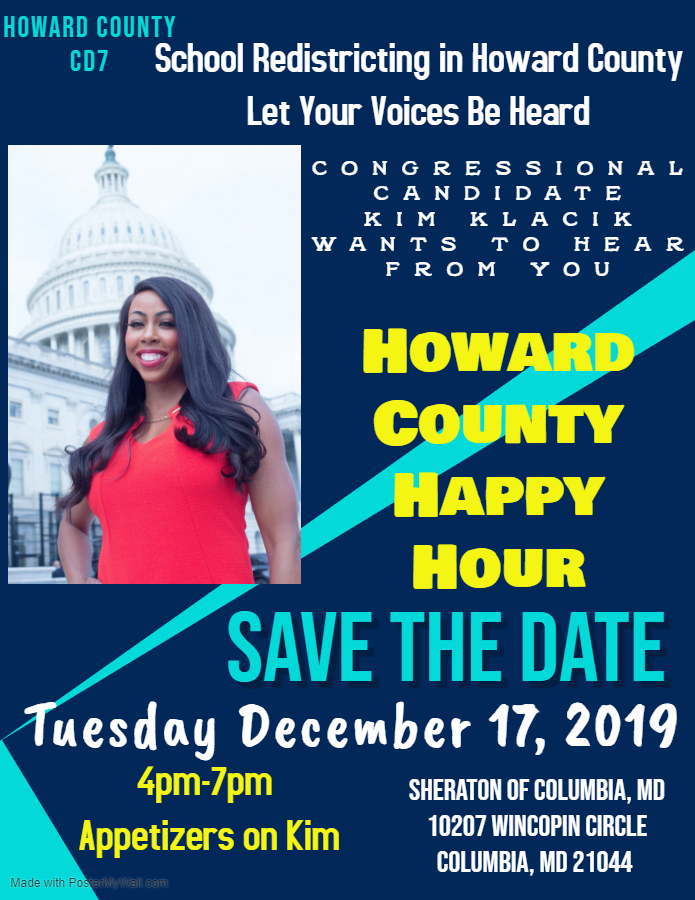 Happy Sunday! If you havent, pls RSVP to the Howard County Happy Hour on Tuesday from 4pm-7pm, Columbia Sheraton Food is on me. Feel free to drop in & go, this is an intimate setting where I can take time to speak to everyone individually. RSVP/Share- eventbrite.com/e/howard-count…