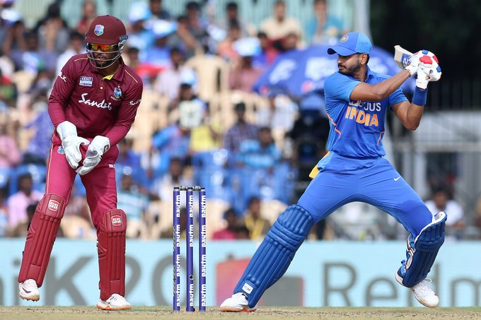 1st #ODI🏏: West Indies (291/2) beat India (287/8) by 8 wickets to take 1-0 lead in three-match series